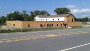 UVS building construction progress, July 2015
